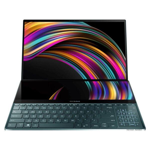 "Asus ZenBook Pro Duo UX581GV-H2001TS Celestial Blue (Intel i9-9980HK/32GB RAM/1TB SSD/Nvidia RTX 2060(6GB GDDR6), 15.6"" 4K UHD OLED Touch, Windows 10)"