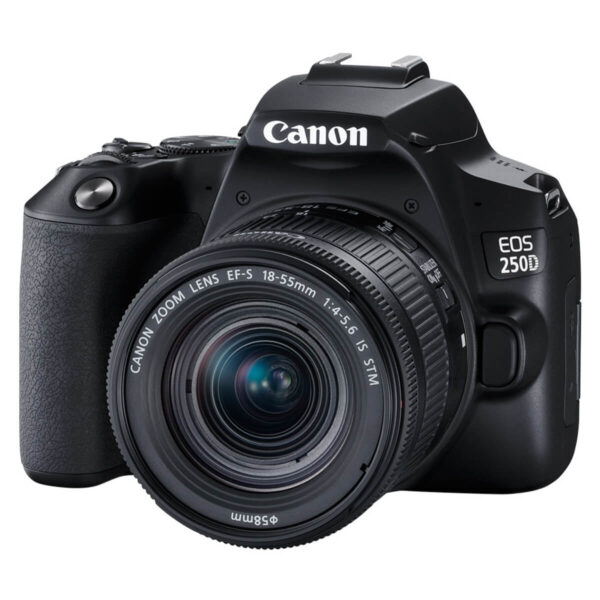 Canon EOS 250D Camera with EF-S 18-55mm Lens - Black
