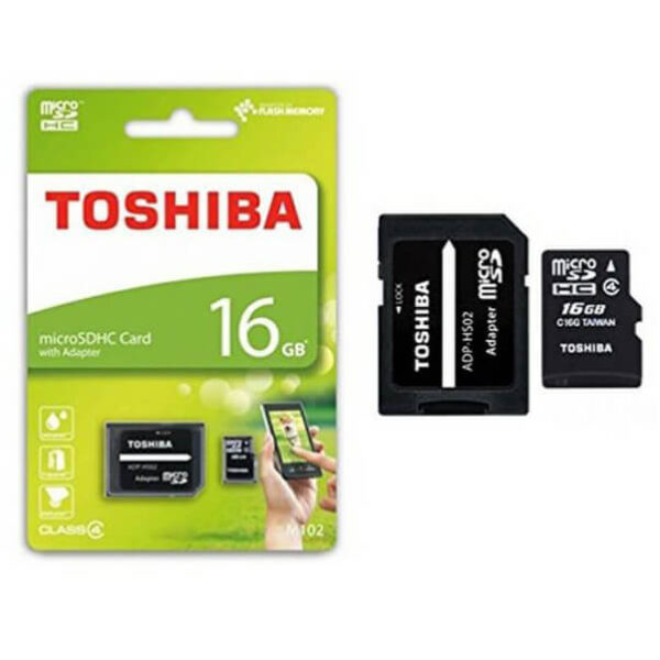 Toshiba 16Gb microSDHC card with adapter