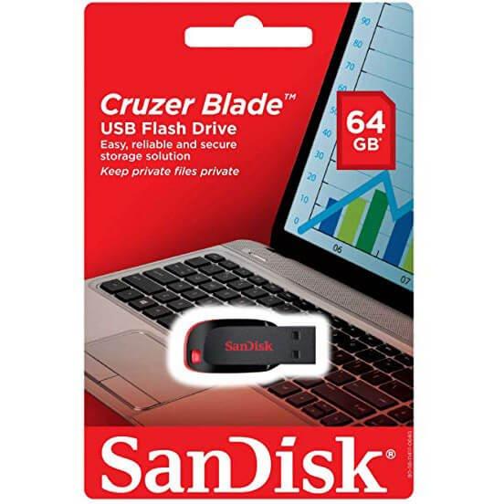 SanDisk Cruzer Blade USB Flash Drive 64Gb