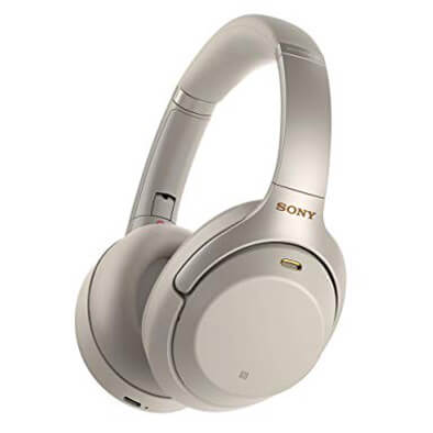 Sony Noise Cancelling Wireless Headphones Silver (WH-1000XM3)