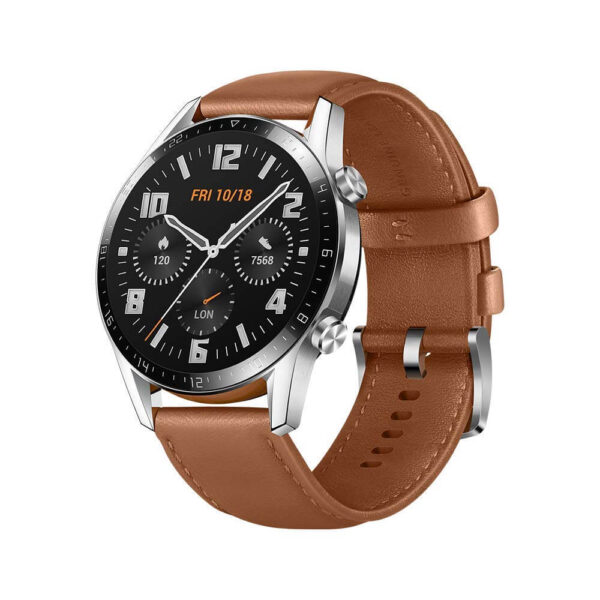 Huawei GT 2 Smart Watch Stainless Steel with Pebble,46mm,Brown