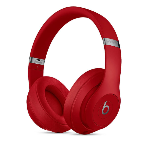 Beats Studio3 Wireless Over‑Ear Headphones - Red
