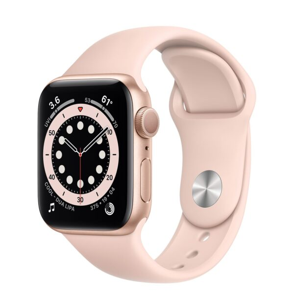 Apple Watch Series 6 GPS 44mm Pink Sand Aluminum Case with Pink Sport Band (M00E3)