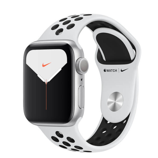 Apple Watch Series 5 Nike+ GPS 40mm Silver Aluminum Case with Nike Sport Band (MX3R2)