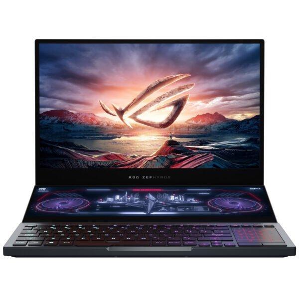 "ASUS ROG ZEPHYRUS DUO 15 GX550LXS-HF135T ( Intel Core i9 , 32GB RAM, 2TB SSD, 15.6"" With 14.1""( 3840 X 1100)Touch, 8GB NVIDIA RTX2080 SuperMQ, USB Camera, Win10)"