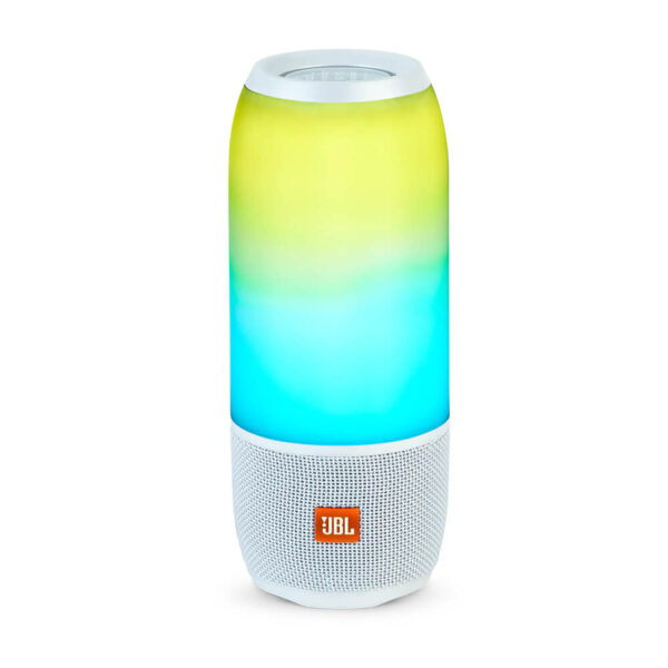 JBL Pulse 3 Waterproof Portable Bluetooth Speaker with 360° Lightshow and Sound - White