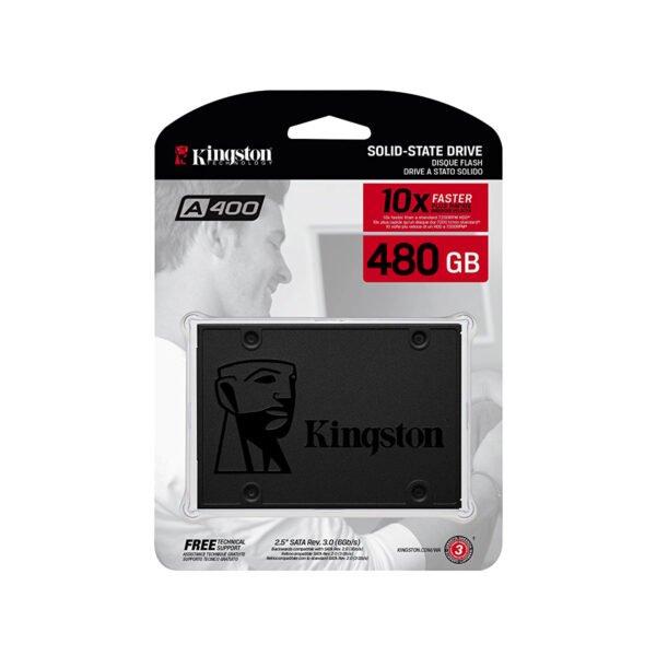 """Kingston 480GB A400 2.5"""" SATA III SSD"""