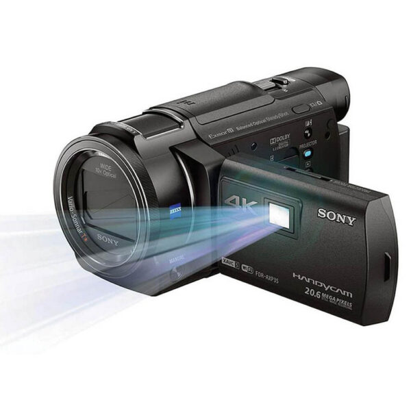 Sony 64GB FDR-AXP35 4K Camcorder with Built-In Projector