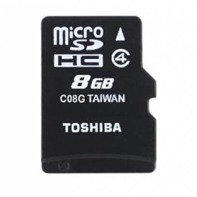 Toshiba 8Gb microSDHC card