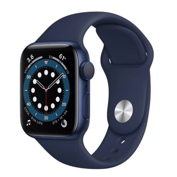 Apple Watch Series 6 GPS 44mm Deep Navy Blue Aluminum Case with Blue Sport Band (M00J3)
