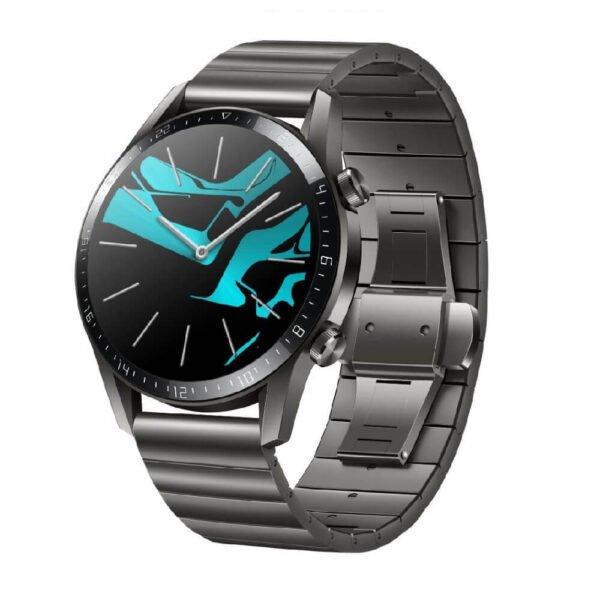 Huawei Watch GT 2 Smartwatch with GPS, 46mm, Titanium Gray