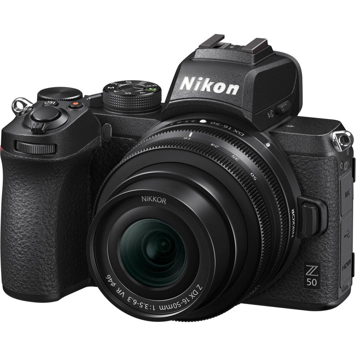 Nikon Z50 Mirrorless Digital Camera with 16-50mm f/3.5-6.3 VR Kit